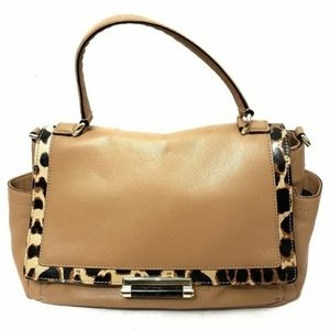 DVF 440 Courier Animal Print Leather Bag